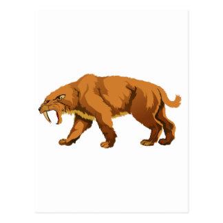 gato Sable-dentado Postal