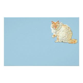 Gato siamés 2 del punto de la llama papelería de diseño