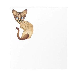 """Gato siamés 5,5"""" x 6"""" libreta - 40 páginas"""