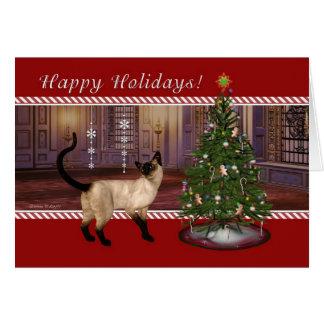 Gato siamés - de la tarjeta veterinaria del día de