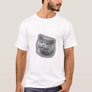 Gato sonriente camiseta
