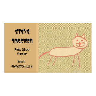 Gato sonriente plantillas de tarjetas personales