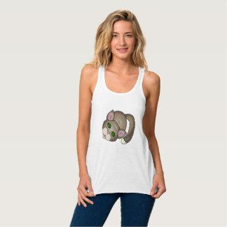 Gato triste camiseta con tirantes