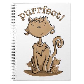Gato y gatitos de la mamá de Purrfect Cuadernos