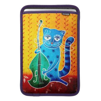 Gato y jazz funda para MacBookAir