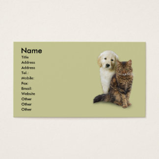 Gato y perro tarjeta de negocios