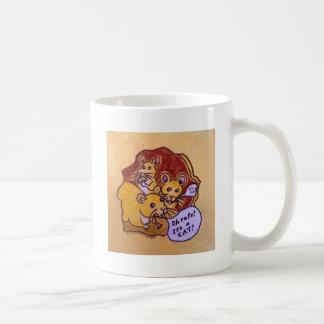 Gato y ratón taza de café