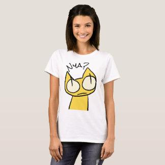 Gatos amarillos el mirar fijamente camiseta