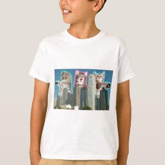 Gatos céntricos camiseta