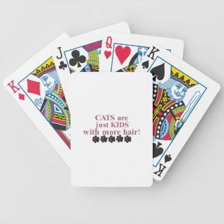 Gatos con más pelo barajas de cartas