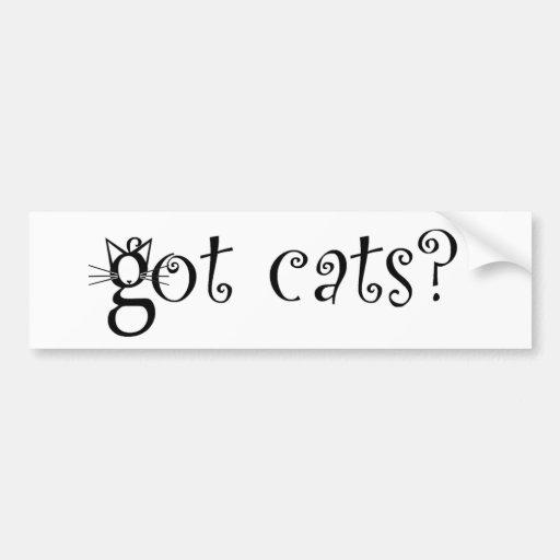 Gatos conseguidos pegatina para el parachoques etiqueta de parachoque