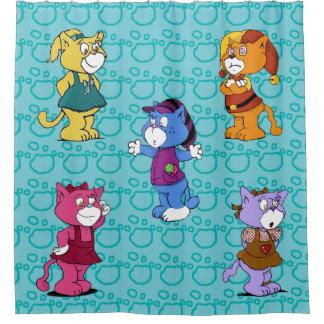 Gatos de Boomi Cortina De Baño