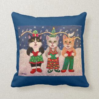 Gatos de Caroling Cojín Decorativo
