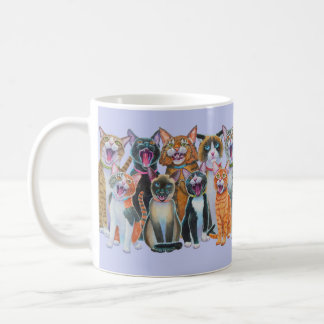 Gatos de Caroling, gatos del canto, abrigo Taza De Café