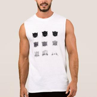 gatos de la camiseta del músculo