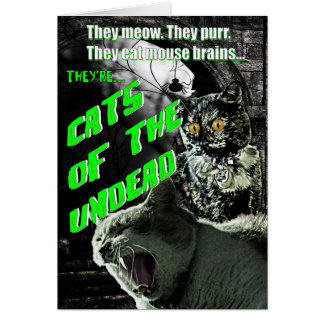 Gatos de la tarjeta de Halloween de los Undead