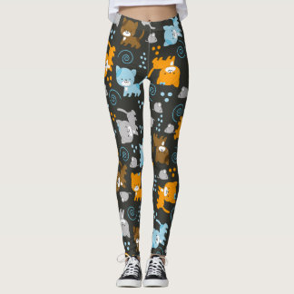 ¡Gatos de los gatos de los gatos! Polainas negras Leggings