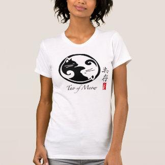 Gatos de Yin Yang el   Tao de la camiseta de las
