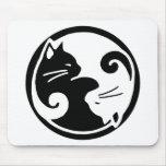 Gatos de Yin Yang Tapetes De Raton