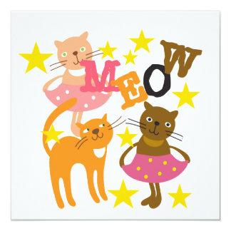 Gatos del baile invitación 13,3 cm x 13,3cm