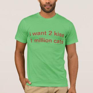 gatos del beso camiseta