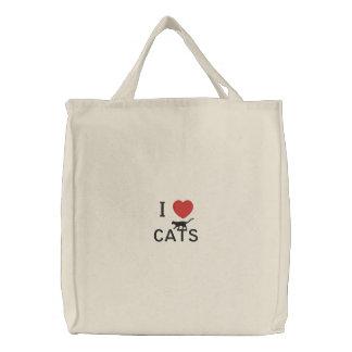 Gatos del corazón I Bolsa De Lienzo