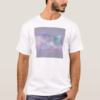 Gatos del espacio camiseta