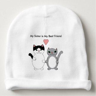 Gatos del mejor amigo de la hermana de encargo gorrito para bebe
