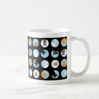 gatos del peekaboo taza de café