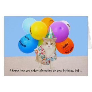 Gatos divertidos adaptables tarjeta de felicitación