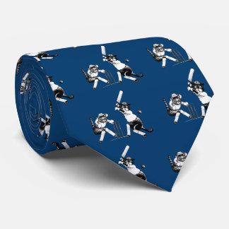 Gatos divertidos que juegan al grillo corbata personalizada