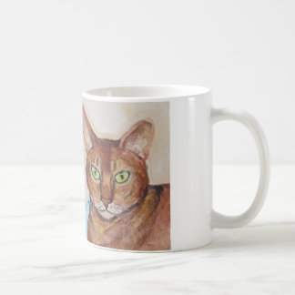 gatos dobles del problema taza de café