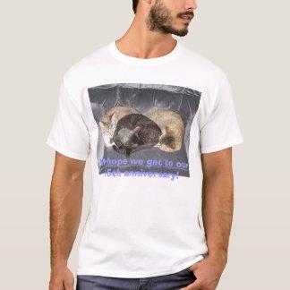 Gatos el dormir camiseta