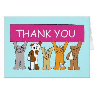 Gatos en los vendajes, gracias al veterinario tarjeta de felicitación