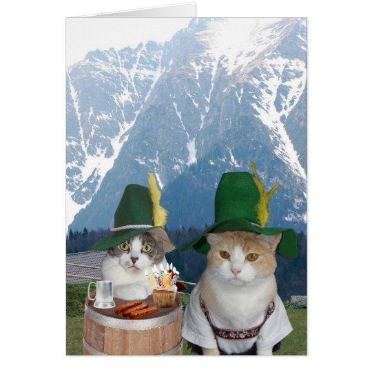 Gatos/gatitos alemanes divertidos adaptables tarjeta de felicitación