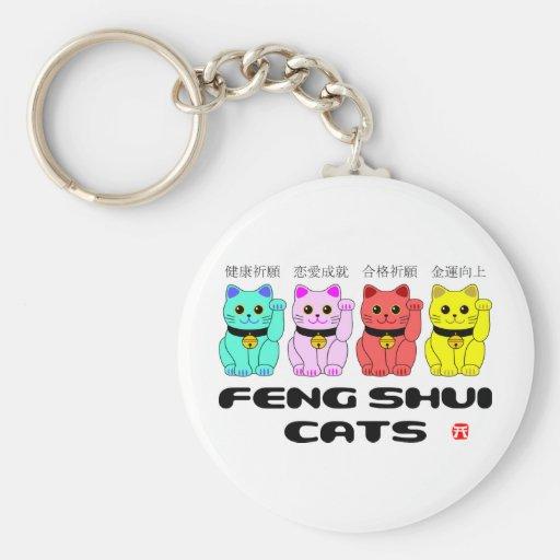 Gatos gato que tientan del shui de feng llaveros - Feng shui que es ...
