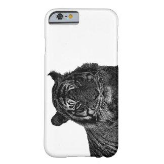 Gatos grandes en peligro tigre salvaje de la funda para iPhone 6 barely there