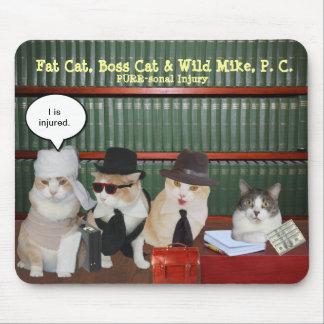 Gatos legales divertidos tapetes de ratón