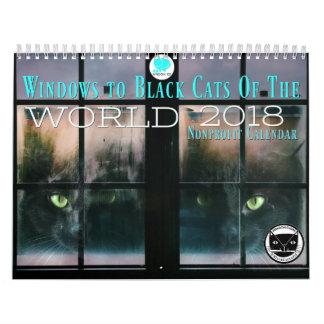 Gatos negros del calendario del mundo 2018
