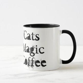 Gatos negros, magia, taza del &Coffee