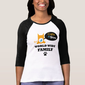Gatos para permanecer el uniforme mundial de la camiseta