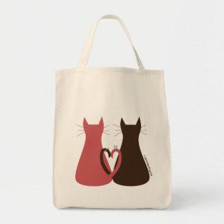 Gatos que casan el bolso bolsas de mano