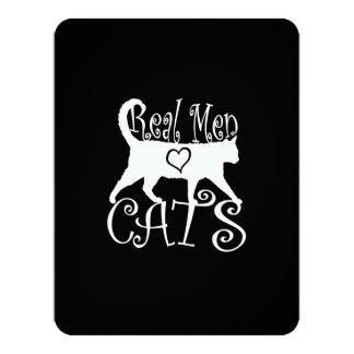Gatos reales del amor de los hombres en estilo invitación 10,8 x 13,9 cm