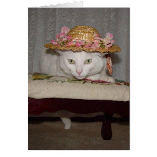 Gatos románticos adaptables tarjeta pequeña