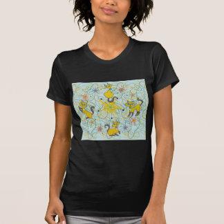 Gatos siameses con el molinillo de viento Starburs Camisetas
