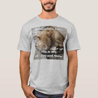 Gatos sin hogar camiseta