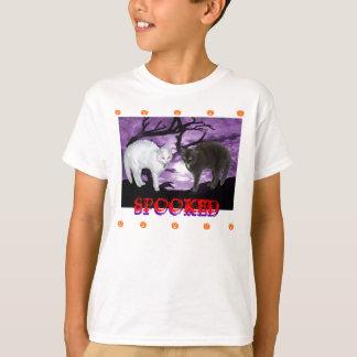 Gatos Spooked Camiseta