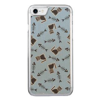 Gatos y huesos de pescados funda para iPhone 8/7 de carved