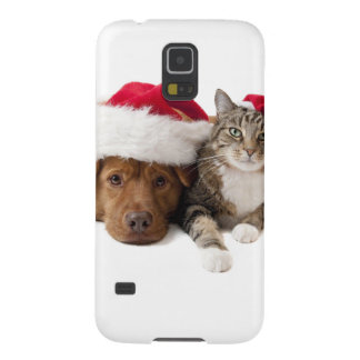 Gatos y perros - gato del navidad - perro del funda para galaxy s5