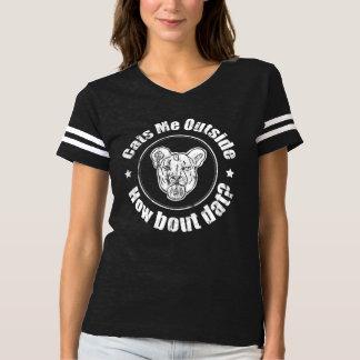 Gatos yo afuera, camiseta del fútbol de Distressd